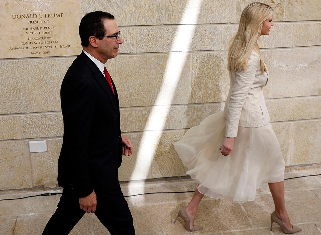 Steven Mnuchin, Ivanka Trump, US embassy, Jerusalem, Israel