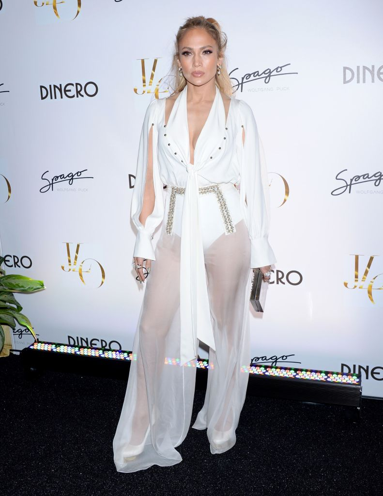 "Jennifer Lopez at her ""Dinero"" single release party in Las Vegas."