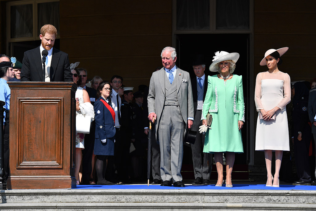 Prince Harry, Prince Charles, Camilla Duchess of Cornwall, Meghan Duchess of Sussex