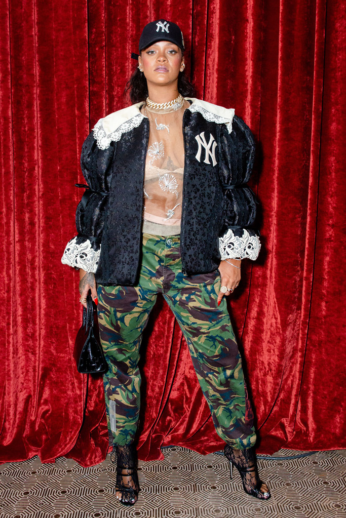 rihanna, savage x fenty, gucci, new york yankees, lingerie, bra
