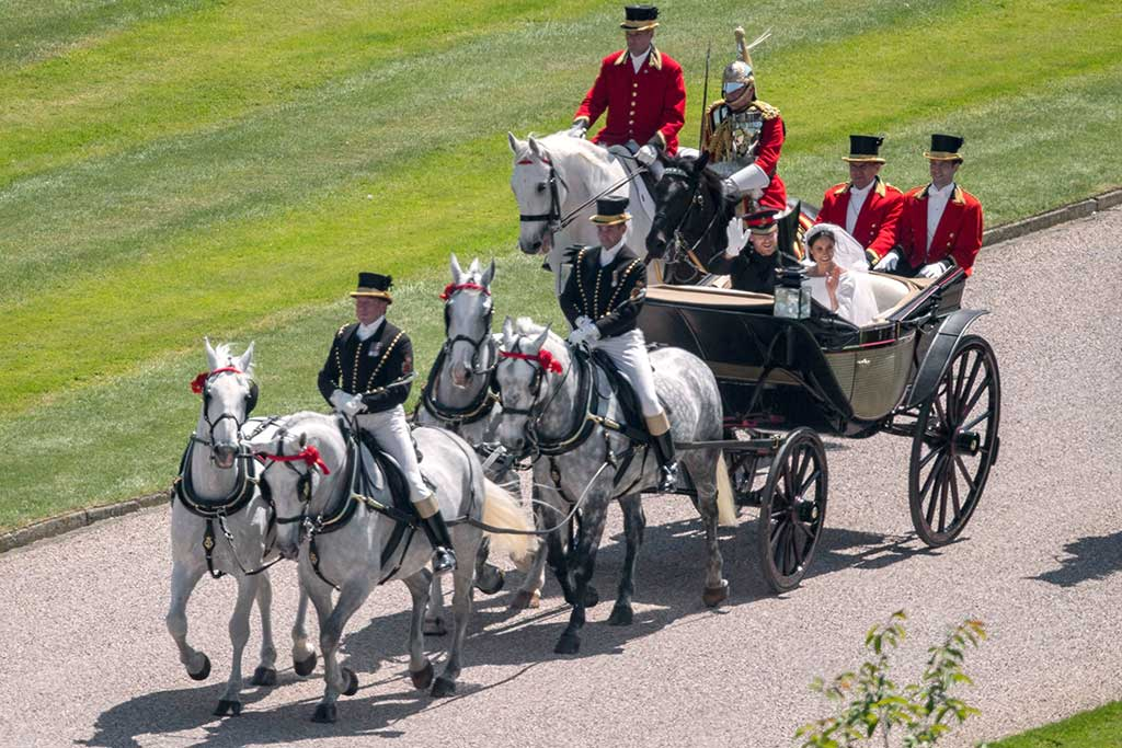 The royal wedding procession