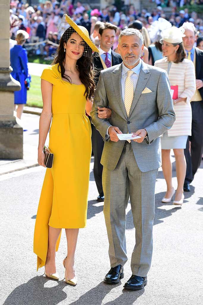 george clooney, amal clooney, royal wedding 2018