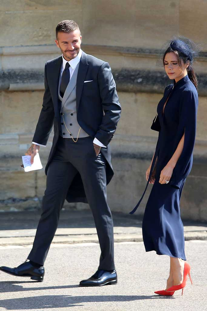 victoria beckham, david beckham, royal wedding 2018