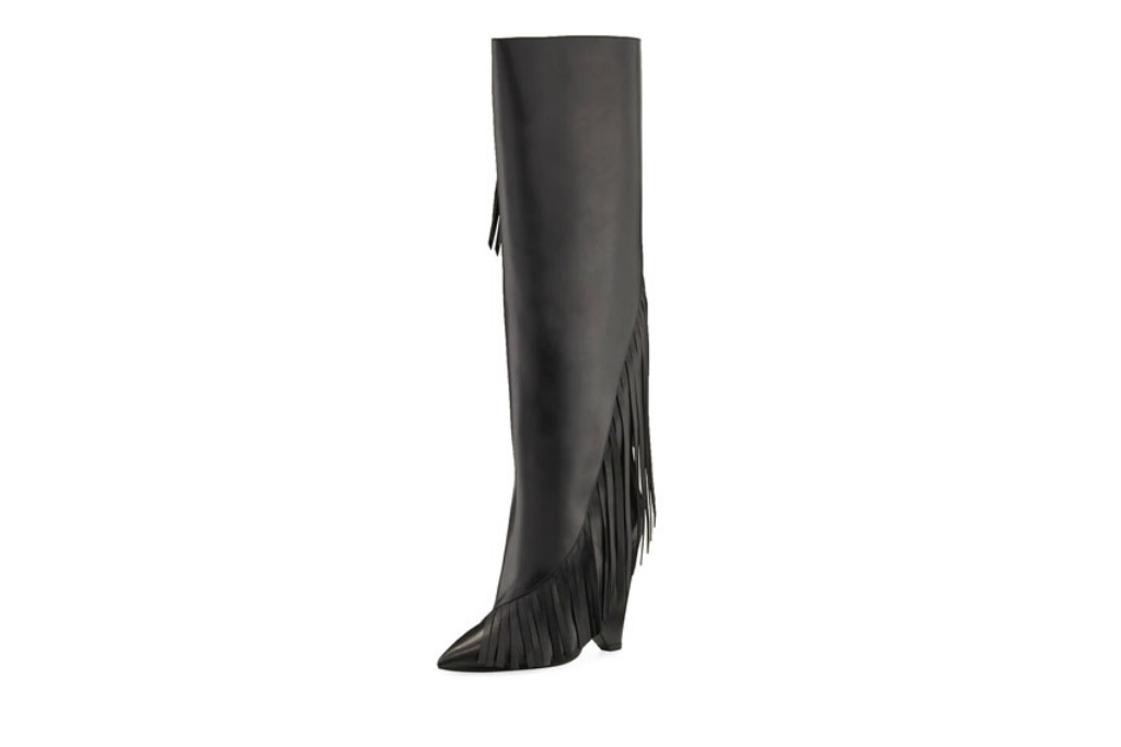Saint Laurent Fringe Knee Boot