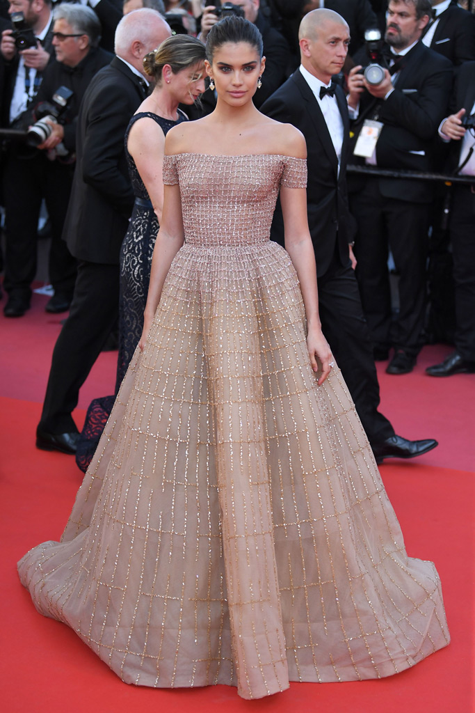 cannes film festival, victoria's secret angel, model, sara sampaio, sheer dress, red carpet