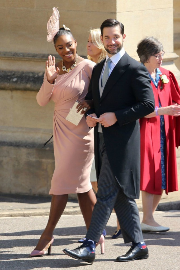 serena williams, alexis ohanian, royal wedding