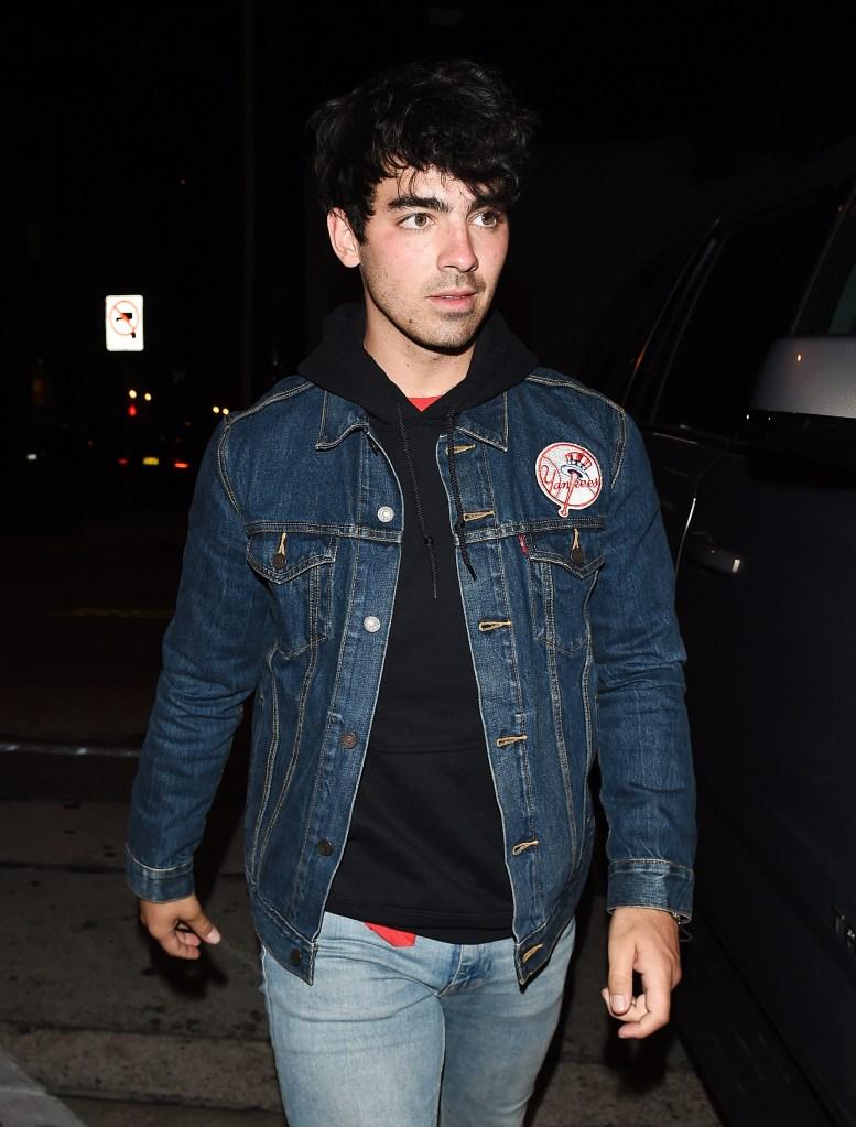 Joe Jonas joins girlfriend Sophie Turner at Craig's Restaurant in LA.