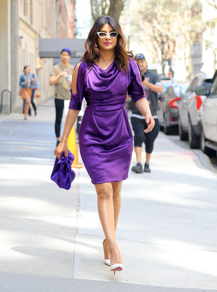 Priyanka Chopra steps out for her appearance on 'The Chew' in New York.