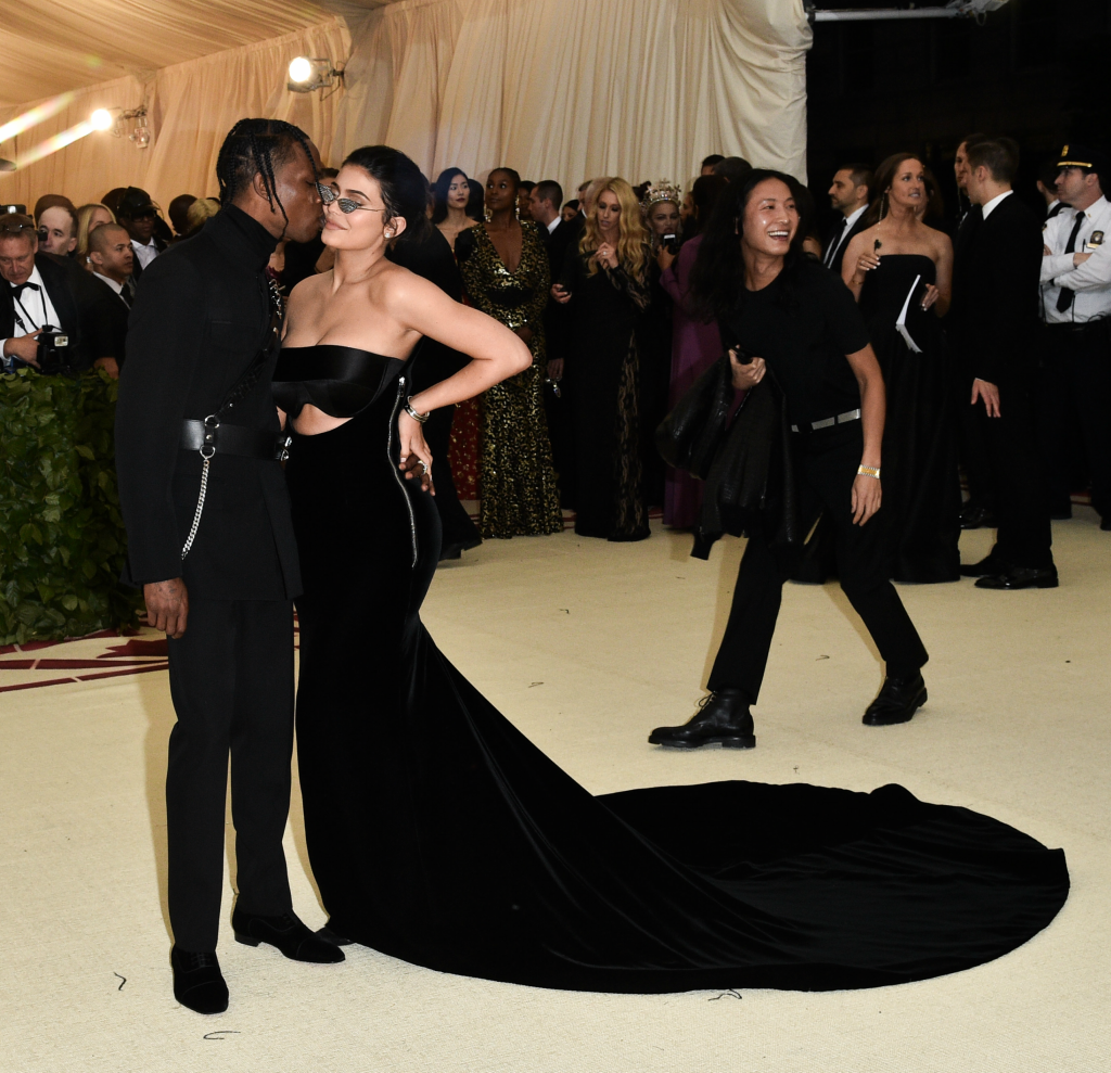 kylie jenner, travis scott, met gala red carpet style