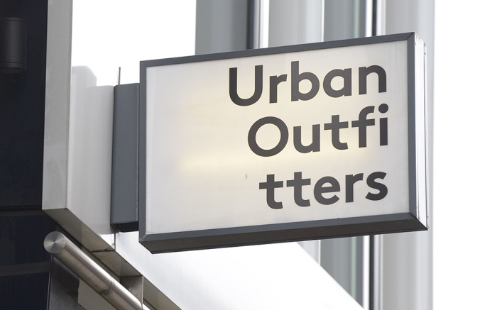 Urban Outfitters sign on store