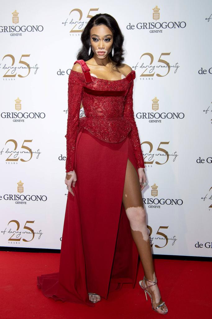 De Grisogono Party, Elie Saab haute couture fall 2017, winnie harlow, cannes film festival red carpet