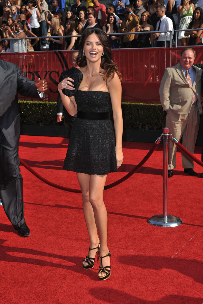 Adriana Lima, red carpet, celebrity style, 2008 espy awards
