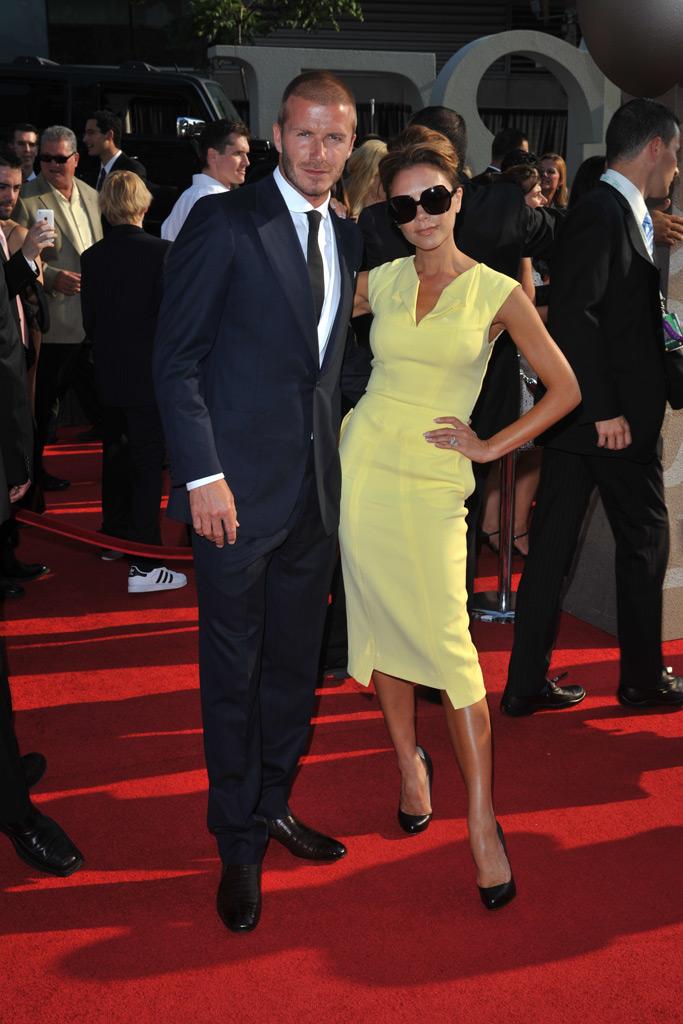 David and Victoria Beckham, red carpet, 2008 espy awards