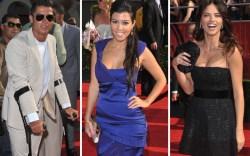 Cristiano Ronaldo, Kourtney Kardashian, Adriana Lima