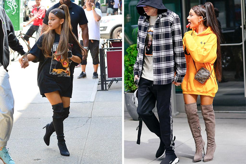 Ariana Grande Street Style, lollipop, pete davidson