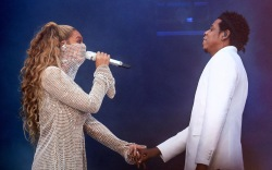 beyonce, jay z, glasgow, perform, on