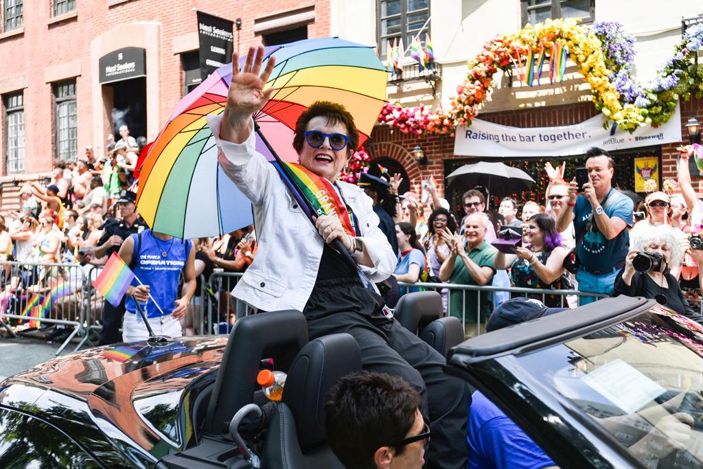 Billie Jean King, pride parade new york city