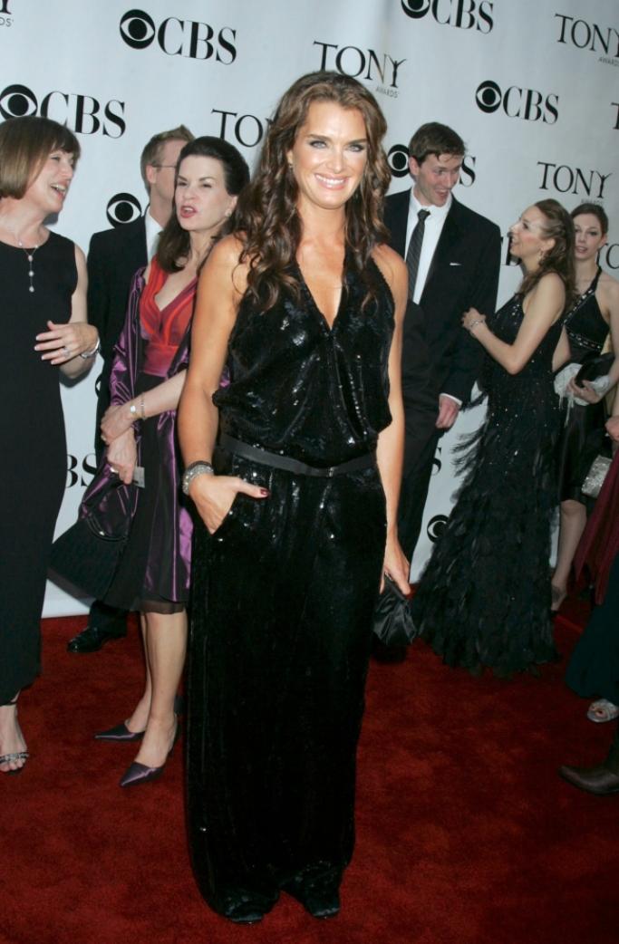 2008 tony awards red carpet, Proenza Schouler jumpsuit, brooke shields