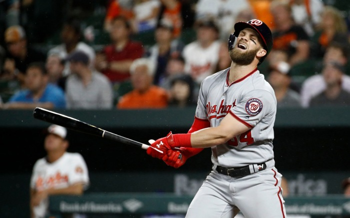 bryce harper, washington nationals, mlb baseball