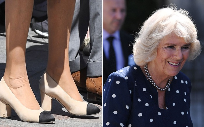 camilla parker bowles, chanel shoes
