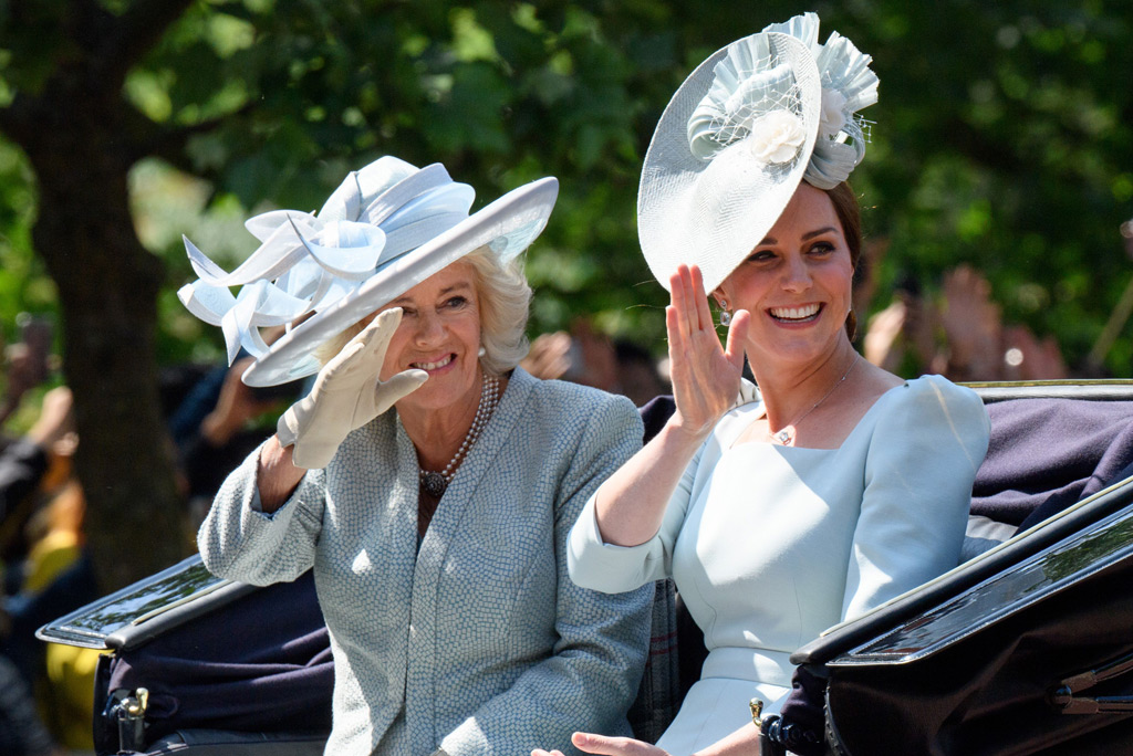 trooping the colour, kate middleton, camilla parker-bowles