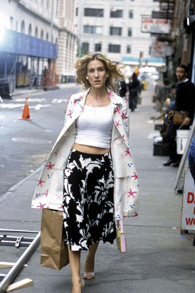 carrie bradshaw sex and the city 20th anniversary shoes fashion icon