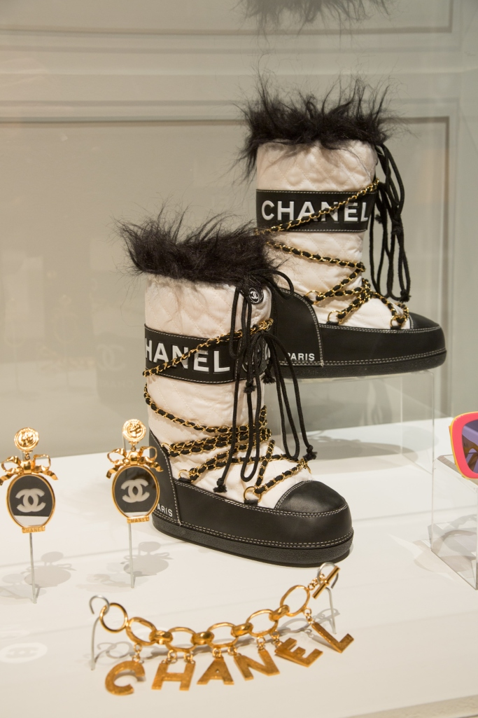 Michel Arnaud, karl lagerfeld, chanel spring 1988 earrings, chanel fall 1993 boots, chanel 1993 bracelet, vintage chanel, Michel Arnaud exhibition