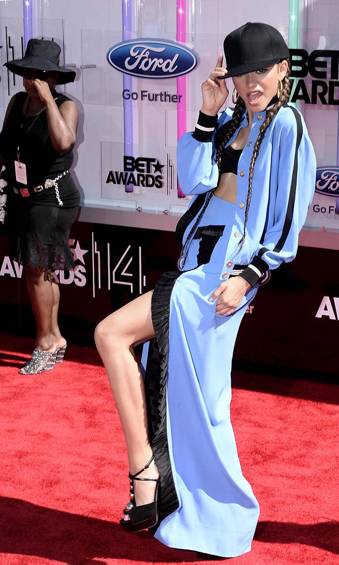 Zendaya, 2014 BET Awards, crazy outfit