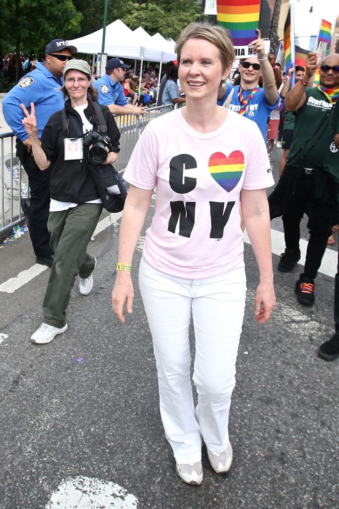 Cynthia Nixon, nyc pride parade, sex and the city, ny governor