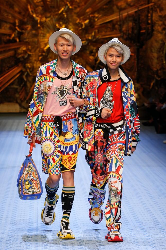 South Koren models like Jin Woo and Ho Jun, dolce and gabbana spring 2019 runway