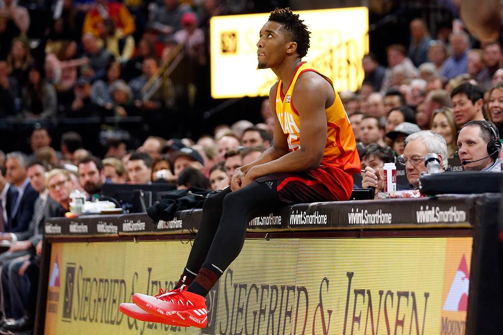 Donovan Mitchell Utah Jazz Adidas Dame 4