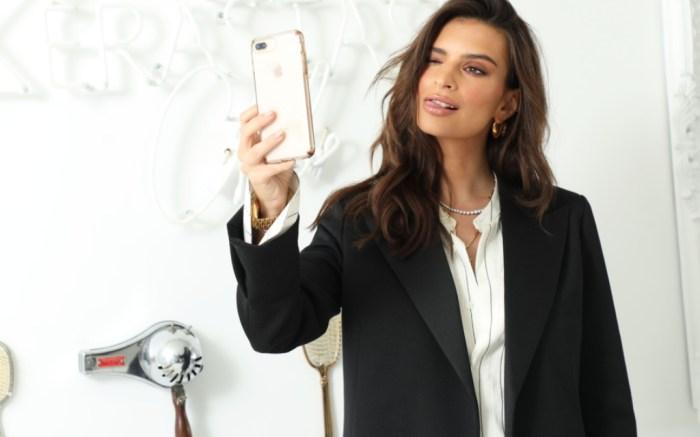 Kerastase Club event, Emily Ratajkowski selfie