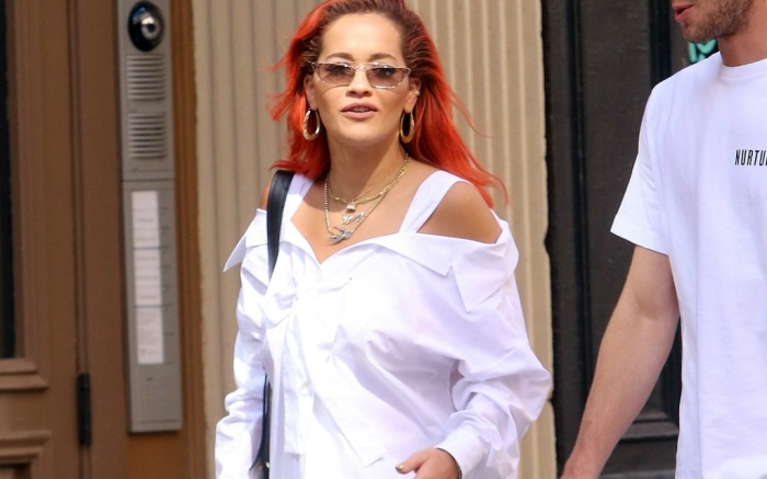 Rita Ora steps out in the Big Apple wearing an all-white outfit.