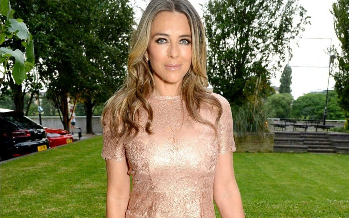 Elizabeth Hurley attends NSPCC event in London.