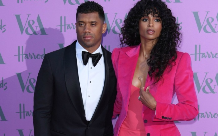 Russell Wilson and Ciara attend the Victoria and Albert Museum summer party.