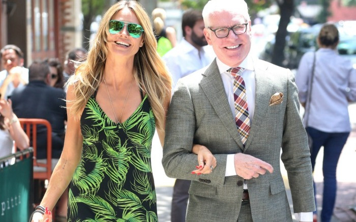 Heidi Klum and Tim Gunn go out to lunch in the Big Apple.