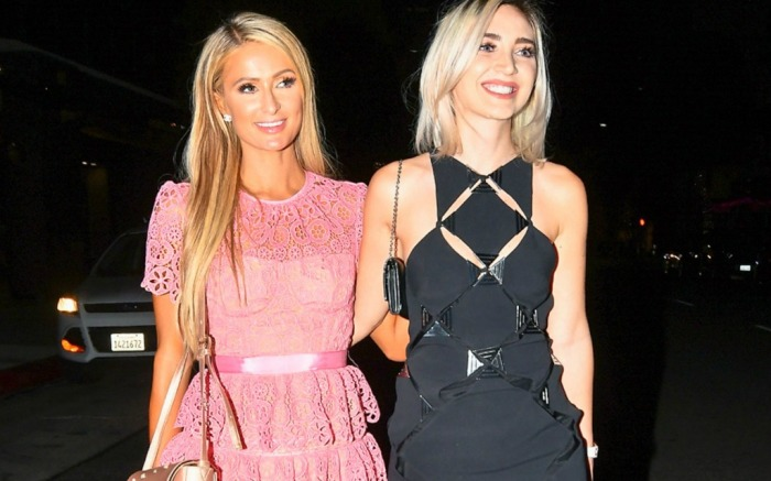 Paris Hilton and Megan Pormer hang out in Los Angeles.