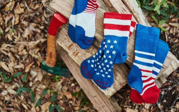 fits socks, fourth of july