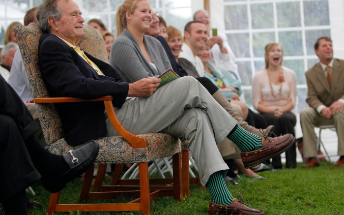 George H.W. Bush, socks, Amy Schumer