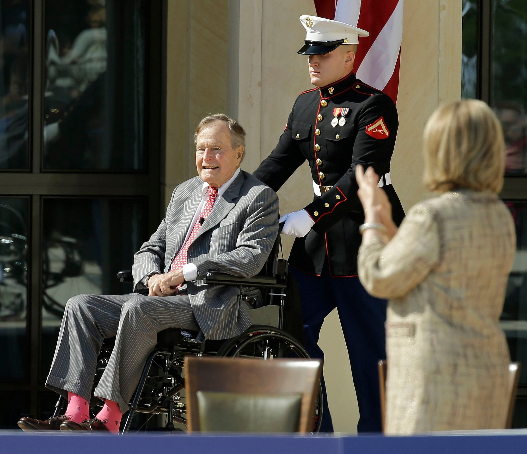 George H.W. Bush, pink socks