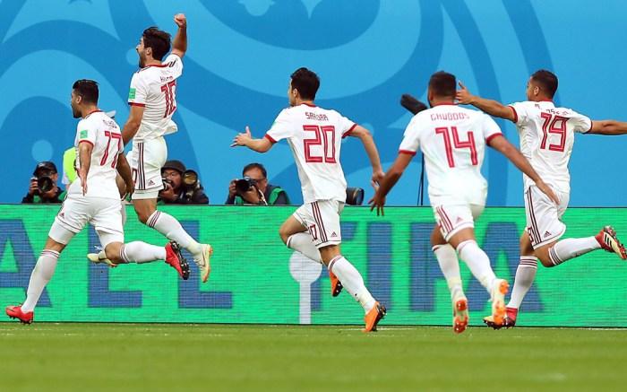 iran soccer team, celebrating