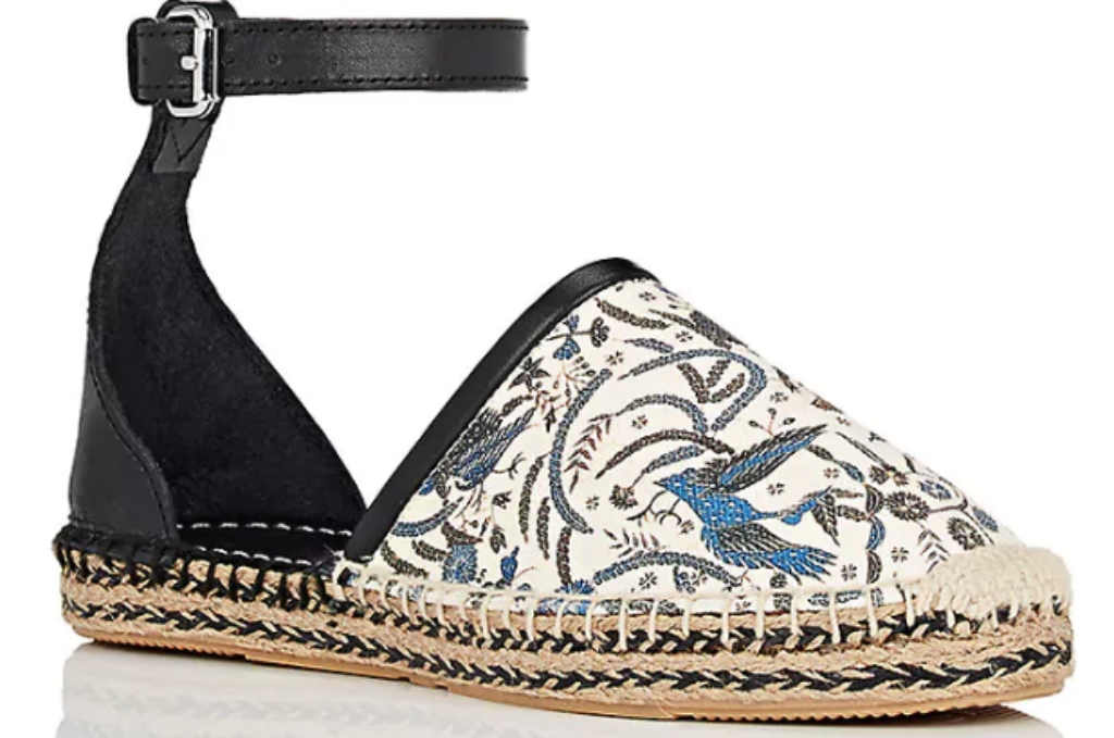 ISABEL MARANT Carlyce Twill & Leather Espadrilles
