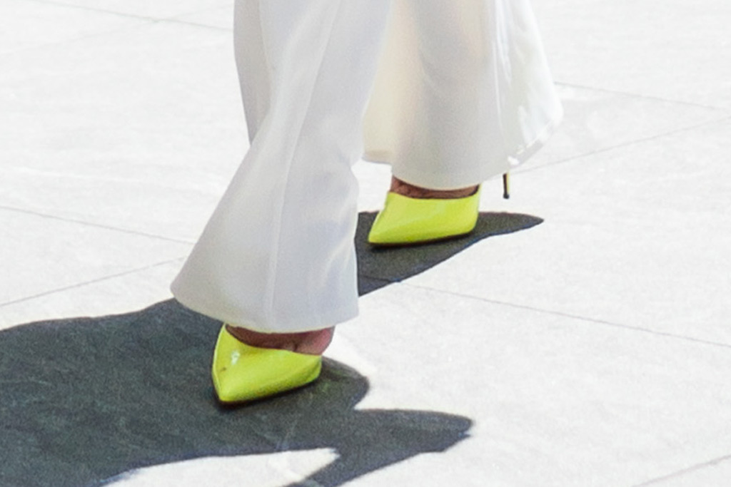 jennifer lopez, shoes, neon, christian louboutin footwear