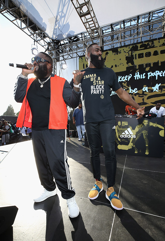 James Harden, Rick Ross, adidas, imma be a star, block party