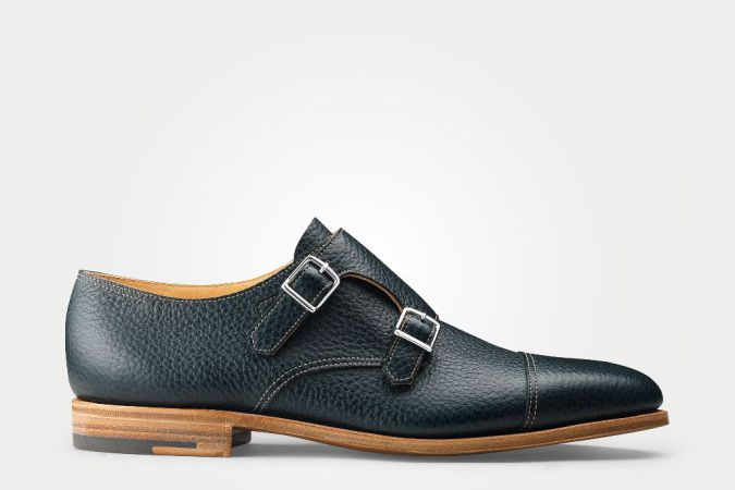 John Lobb, leather, loafer, double strap, spring 19