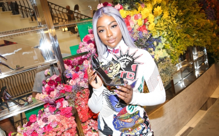 justine skye, the drop at barneys