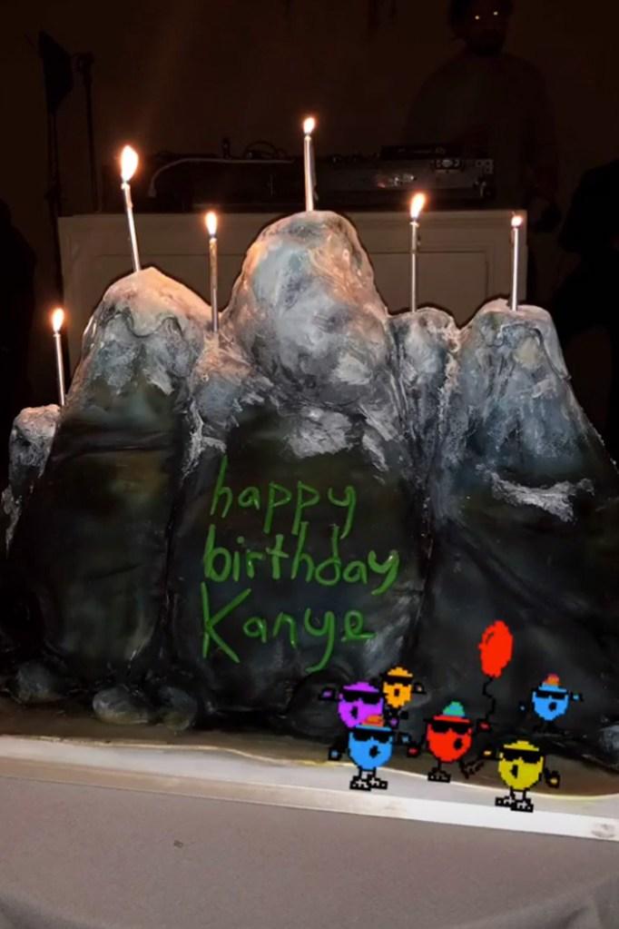 kanye west, 41st birthday, cake