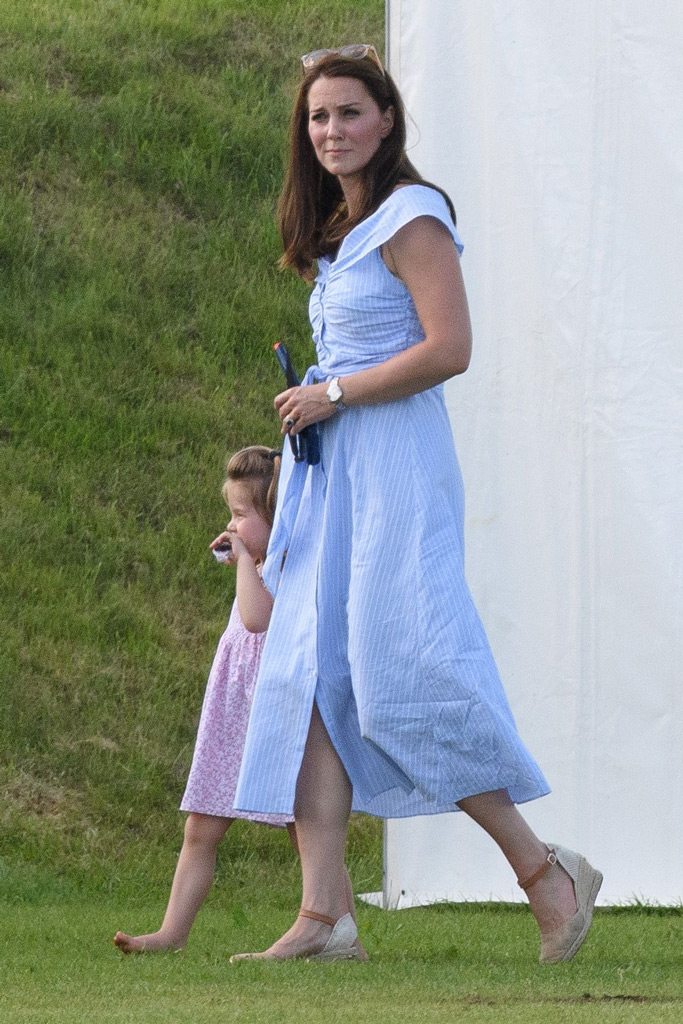 kate middleton, zara, princess charlotte, polo tournament