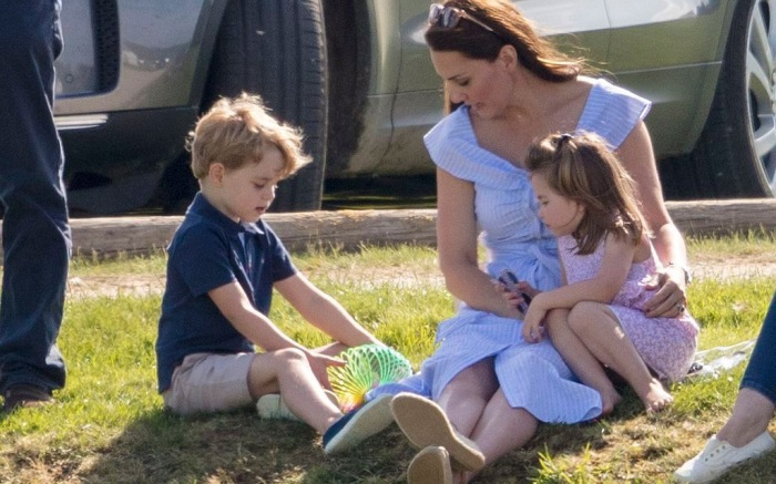 Prince George, Kate Middleton and Princess Charlotte