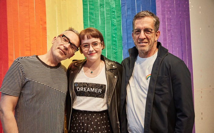 kenneth cole, Caitlin Kinnunen, Greg Brossia, pride collection